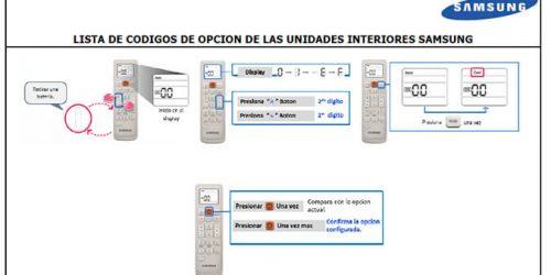 Códigos de Configuración para Aires Acondicionados V2