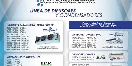 LINEA DE DIFUSORES Y CONDENSADORES