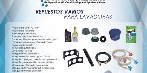 LINEA REPUESTOS VARIOS PARA LAVADORAS
