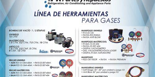 Linea de HERRAMIENTA para gases