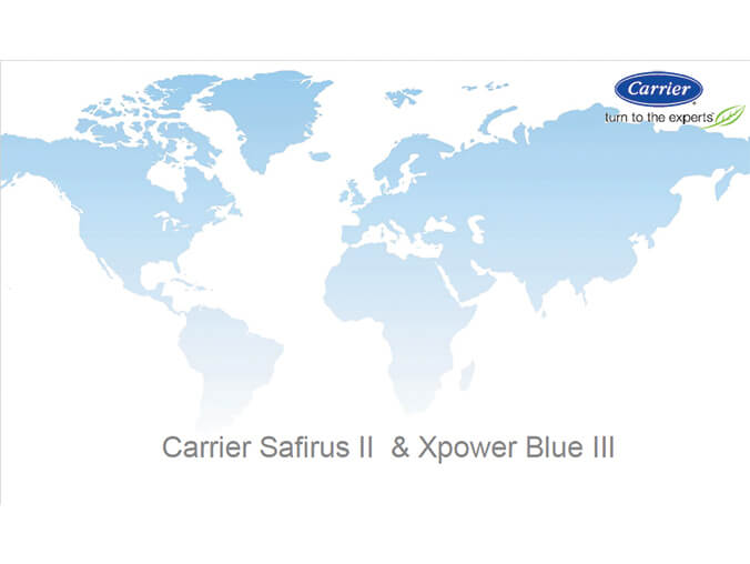 Carrier-NEW-XPower-Blue-and-Safirus-series-introduction-Spanish