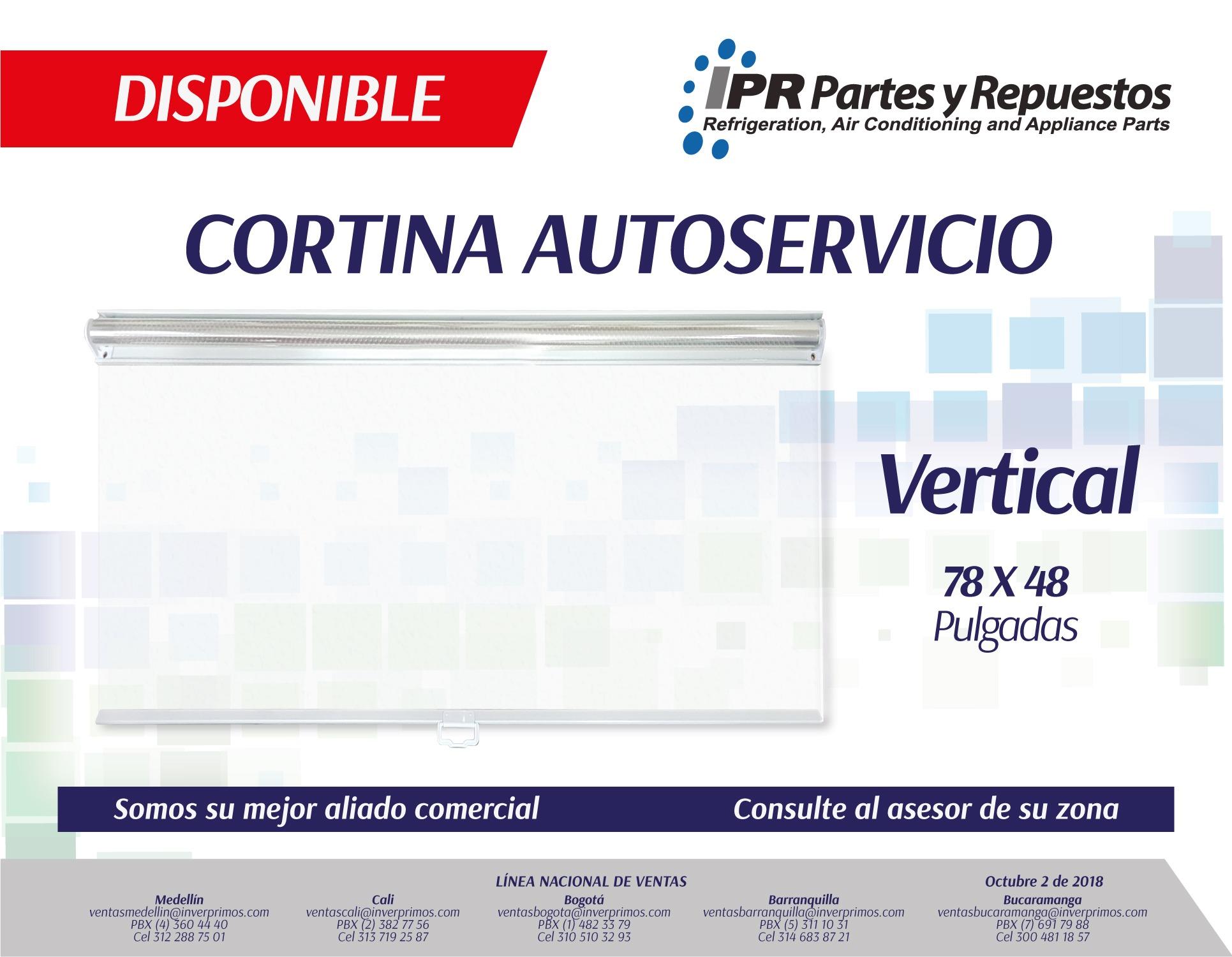 CORTINA, AUTOSERVICIO, REFRIGERACIÓN